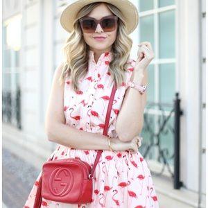 Chicwish Flamingo Fun Flare Print Dress